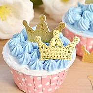 Gold Crown Cupcake Toppers Wedding Baby Shower Birthday Party Cake Decorations(50pcs/set)
