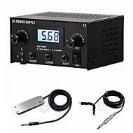 FTTATTOO® LCD Digital Dual Tattoo Power Supply Kit with Plug Clip Cord Foot Pedal