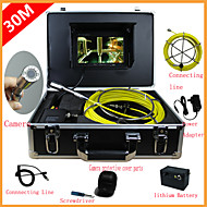 "Pipe Inspection System 7""Mon 30M Drain Sewer Waterproof Camera Pipe Pipeline Snake Inspection System with 12 LED Lights"
