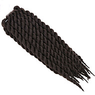 Dark Brown Havana Twist Braids Hair Extensions 22inch Kanekalon 2 Strand 120g/pcs gram Hair Braids
