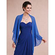Wickeltücher für Frauen Schals Ärmellos Chiffon Royal Blau Hochzeit / Party