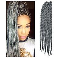 12-24 inch Crochet Braid Havana Mambo Afro Twist Hair Extension Silver Grey