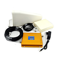 GSM / 3G-W-CDMA mobiltelefon dual band signal booster, signal booster + log periodisk antenne + planar antenne