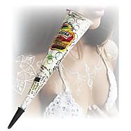 Halloween White Glitter Henna Cones Body Art Mehandi ink jagua Temporary Tattoo Kit