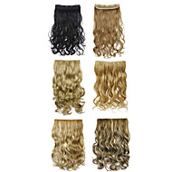 Clip In Ombre Hair Extension Two Tones Gradient Synthetic Hair Extensions 888