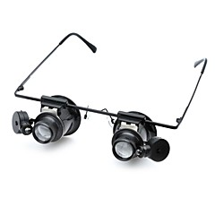 CM202 Glasses Type 20X Magnifier with White LED Light (2 x CR1620)