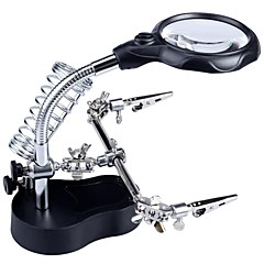 3.5X / 12X Helping Hand Magnifier LED Light with 2-LED White Light / Soldering Stand (3 x AAA)