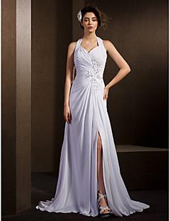 7ea503ae14ba Lanting Bride® Krój A Drobna   Rozmiar Plus Suknia ślubna Tren w stylu  sądowym Przewiązany