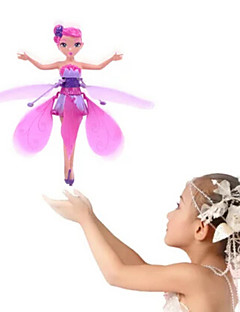 Flying Fairy Hovering Angel Princess Doll Wings Flitter RC Remote Control Toys Hand Sense Doll Toy