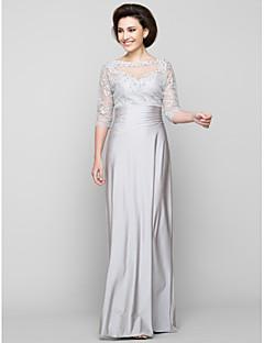 065d315724 Lanting Bride® Szűk szabású Örömanya ruha Bokáig érő Féhosszú Tüll /  Charmeuse - Gyöngydíszítés