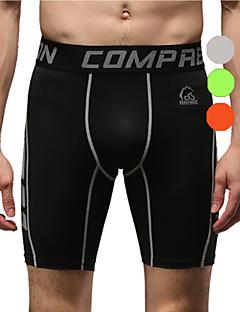 Vansydical Men's Quick Dry Fitness Bottoms Green / Gray / Orange