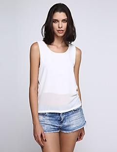 06ad83a4d400 Γυναικείο Αμάνικη Μπλούζα Καθημερινά Απλό Κομψό στυλ street  Μονόχρωμο