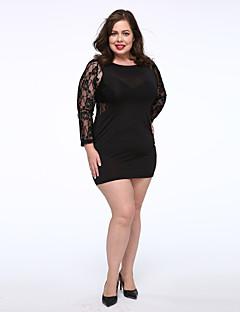eb5cf95ba5fb Γυναικείο Πάρτι Κοκτέιλ Μεγάλα Μεγέθη Σέξι Θήκη Δαντέλα Φόρεμα